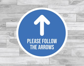 Exhibition ect Temporary Floor and Wall Applications Glossy Crowd Control Blue 12 Inch Floor Stickers Removable Adhesive Arrow SignSafety Decal Stickers 30 Pack-Marking Floor Arrows Sign for Wedding