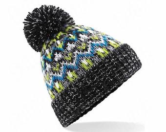 Blizzard Bobble Beanie 'Liquorice Zing ' - Winter Beanie 2021 (Warm, Stylish, Luxury Bobble Beanie Hat)