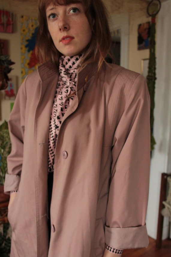 80s Dusty Rose Trench