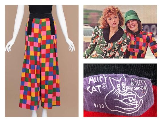 Betsey Johnson Alley Cat Corduroy Rainbow Checker