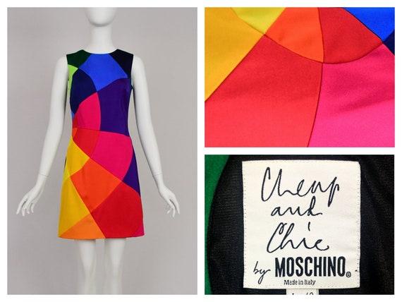 Moschino 90s Vintage Rainbow Dress
