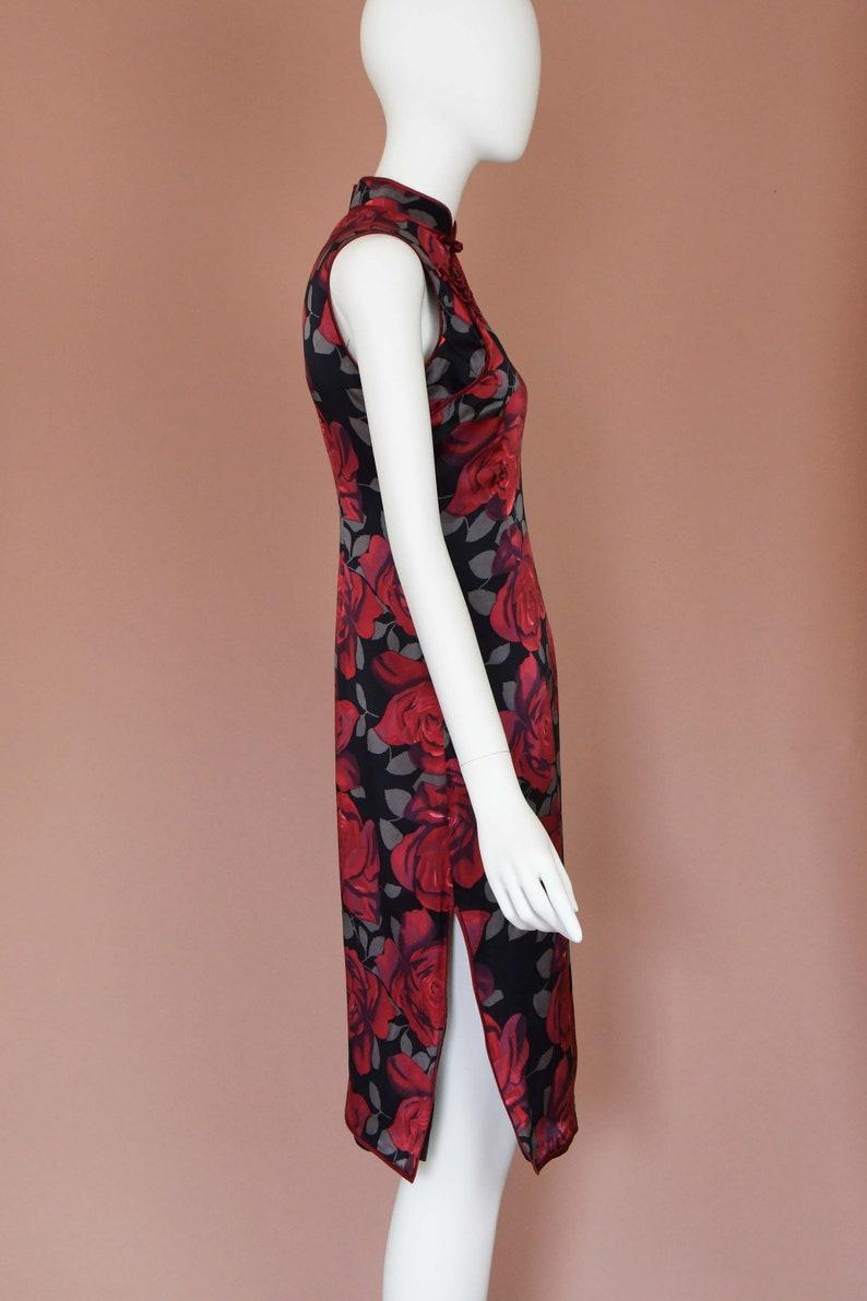 Vintage Rose Print Cheongsam