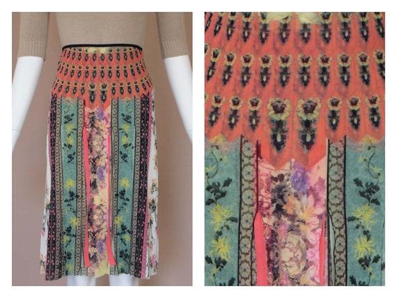 Vivienne Tam Floral Ribbon Skirt