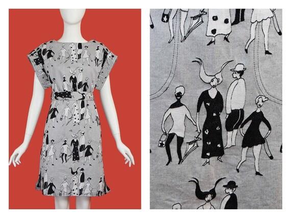 Tsumori Chisato People Denim Jacquard Dress