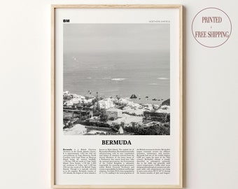 Hamilton Bermuda Coordinates World City Travel Quote Wall Art Print