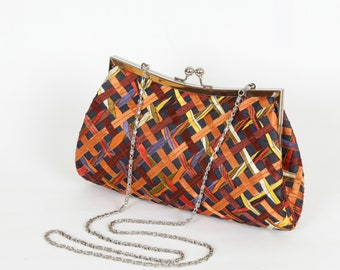 A Special Holiday Gift Patchwork evening Clutch Purse Evening Clutch Hand Woven Clutch Clutch Purse Evening Bag