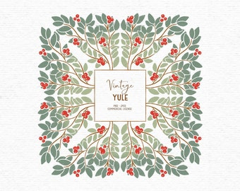 Digital traditional Christmas clipart