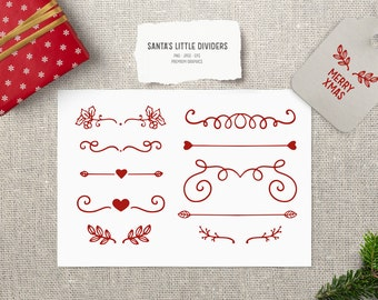 Red Christmas divider clipart