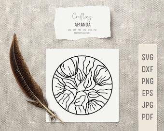 Digital flower SVG file for crafting and cardmaking