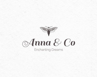 Moth logo template