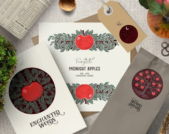 Digital vintage apple clipart