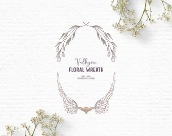 Digital Valkyrie floral clipart