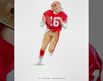 "Joe Cool The Comeback Kid American Football 24/""x32/"" Poster 019 JOE MONTANA"