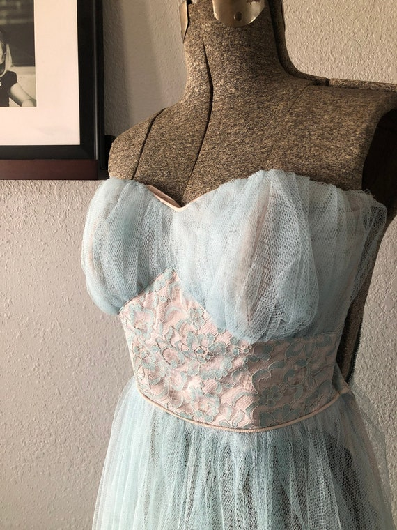 Beautiful Blue Vintage Party Gown