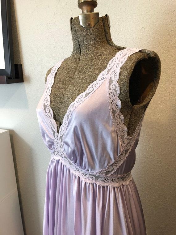 Vintage Lavender Lace Olga Nightgown
