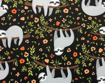 Sloth Upholstery Fabric by the Yard Tropical Trees and Hanging Sloths Nursery Boy Girl Kid/'s Room Chair Sofa Furniture Upholstery Fabric
