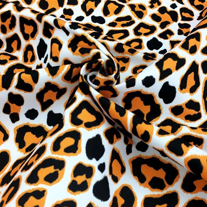 Pop Art Leopard Print Fabric Cheetah Animal Pattern Fashion Home Textile Drapery Furniture Chair Sofa Upholstery Fabric by the Yard