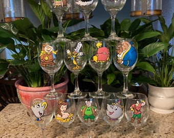 Beauty and the Beast Hand Painted Glass Collection