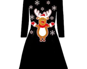 Rudolf Rendier piepende neus kerst trui | Etsy