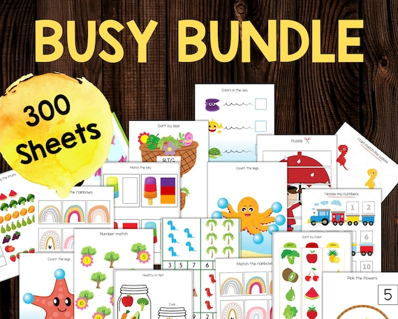Busy Books for Toddlers Busy Book Printable Worksheets Set