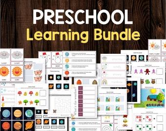 Busy Book Preschool, Flash cards, Homeschool Preschool, Learning Binder, Montessori Printable, Preschool Binder, Preschool Curriculum
