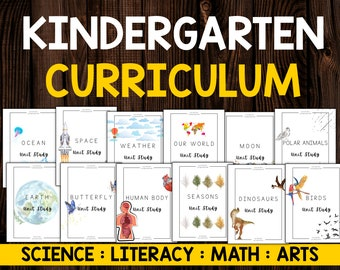 Science and Nature Based Homeschool Unit Study Curriculum for Kindergarten, First Grade and Second Grade | 20 Unit Studies for Full Year