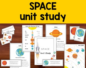 Solar System Science Unit Study, Space and Planets, Homeschool Learning Curriculum for Preschool, Kindergarten, First and Second Grade