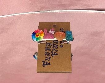 Funky Flower Barrette  Hair clip colorful pastel aesthetic boho handmade cute Scandinavia floral clip