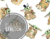 PRE-ORDER 4 to 6 Weeks to Ship Liverpool BULLET Stretch Knit Baby Yoda Snacky Snacks Exclusive Fabric
