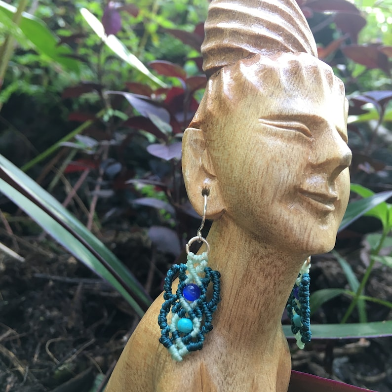 Cat/'s Eye and Turquoise Earrings