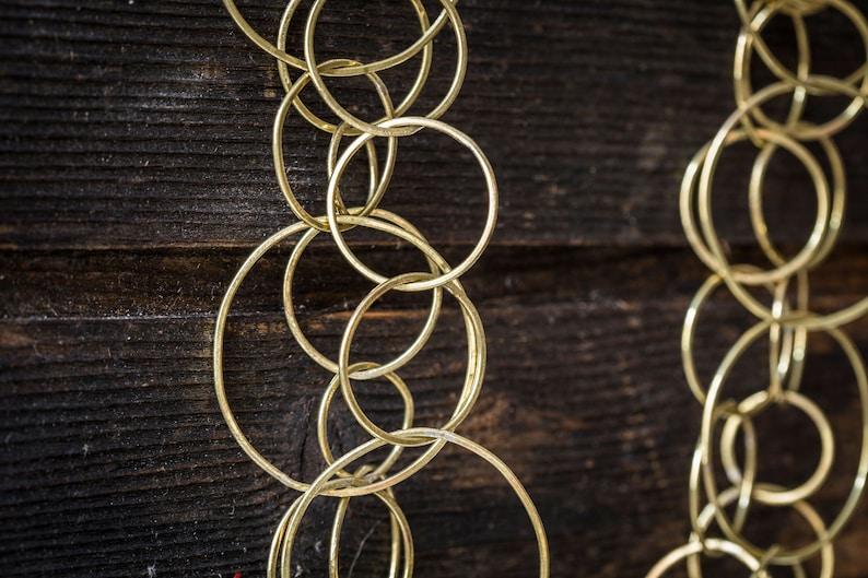 bohochic 3 laps handmade product unique piece handmade Bossanova brass necklace