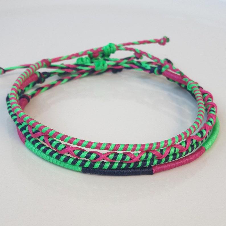 Special Gift Idea Unisex Adjustable Bracelets Multicolored Handcrafted Bracelets