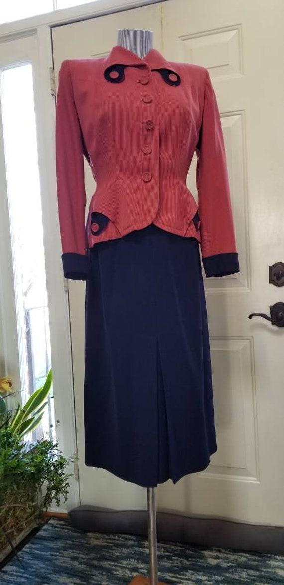 Unique, Custom Vintage 40's 50's Ladies Skirt Suit