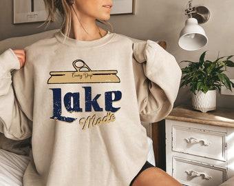 Lake Mode Crewneck Sweatshirt, Country Deep Lake Mode Unisex Sweatshirt, Lake Mode Distressed Vintage Sweatshirt, Gift for Mom for women