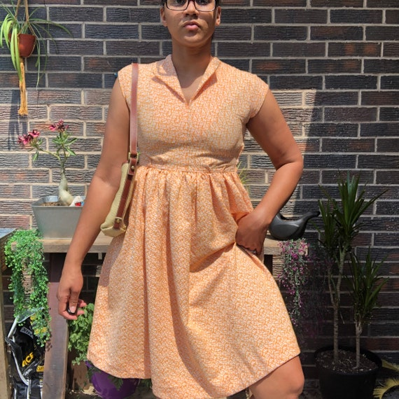 Vintage 1970s fit and flare dress