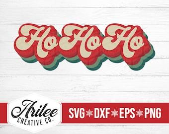 Ho Ho Ho SVG - Retro Christmas SVG - Vintage SVG - Retro Svg for Shirts - Christmas Svg for Shirts - Retro Font Svg - Christmas svg Files