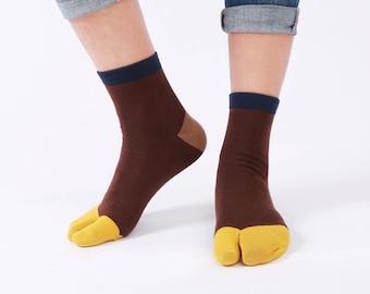Unisex 2-Toe Japanese Tabi Socks Size:Toddler//Kid//Adult 2 Pairs