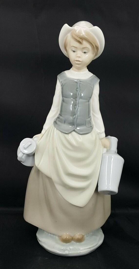 Lladro Figurine 4939 Milkmaid - Defective