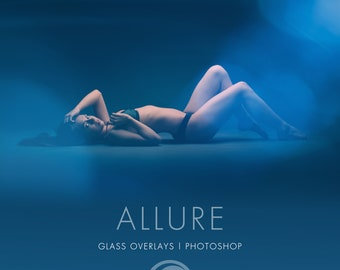 ALLURE - 25x Glass Overlays for Photoshop | Filters | Photography Filter | Lens flare | Light Leak | PNG Format