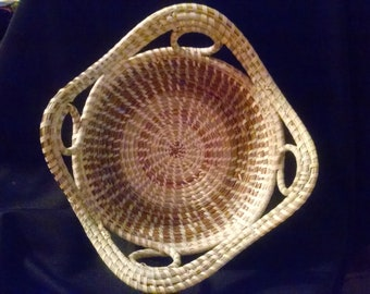 Small Four Loop Sweetgrass Basket