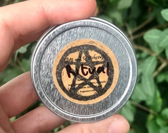 Ritual Solid Perfume - notes of frankincense, amber, dragon's blood, and myrrh - spooky season, Halloween, Samhain, witchcraft, occult
