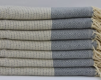 "Handmade Towel Gray Towel Cotton Towel Turkish Hand Towel 18""x40"" Turkish Peshkir Turkish Towel Face Towel Head Towel Home Decor Towel I-201"