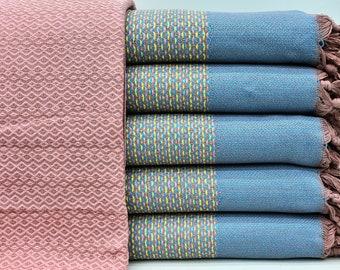 "Bedcover, Turkish Throw, Turkish Blanket, Bedspread, 102""x78"", Blanket, Travel Blanket, Large Beach Towel, Decor Blanket, Blanket I-106"