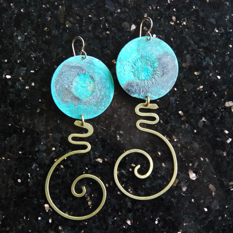 Lochlin Smith Designs Dangling Moon Spirals image 0