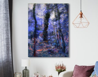 Canvas art print, archival wall art, stretched canvas print, impressionist, painterly nature, giclée, nature art, wall decor