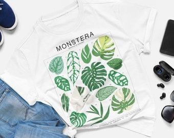 Monstera Varieties Plant ID Chart - Short-Sleeve Unisex T-Shirt