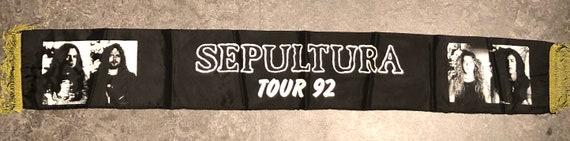 SEPULTURA 1992 Tour Scarf Vintage