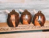 Honey Jars / Handmade Pottery / Cute gifts / Ceramic Kitchenware