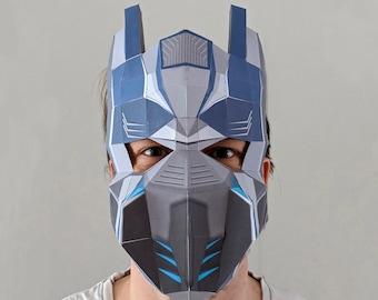 Paper Mask / DIY / PDF/ Instant Download/ Optimus Prime
