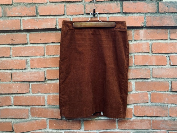 1970s Corduroy J.Crew Birkin Rust Skirt